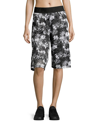 Ivy Park Floral Mesh Basketball Shorts-MONOCHROME-X-Small