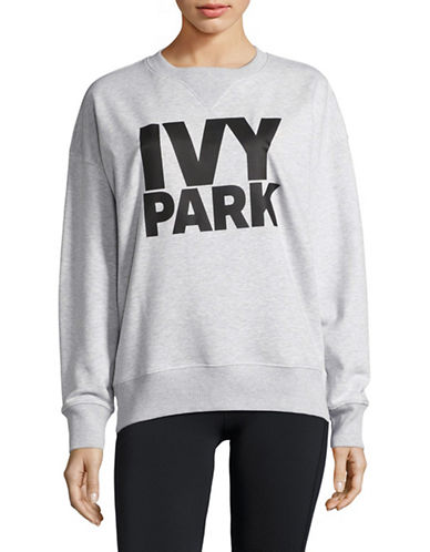 Ivy Park Logo Sweatshirt-LIGHT GREY MARL-Medium