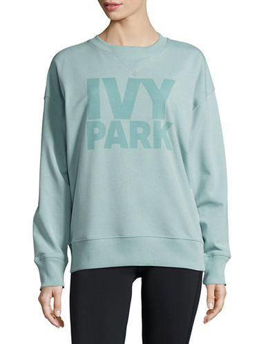 Ivy Park Tonal Logo Sweatshirt-PALE BLUE-X-Small 89122886_PALE BLUE_X-Small