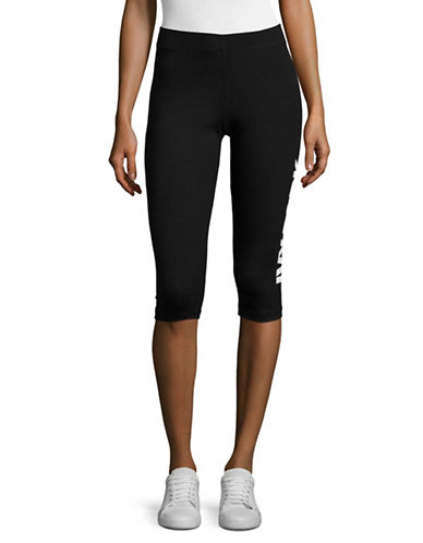 Ivy Park Logo Capri Leggings-BLACK-Large