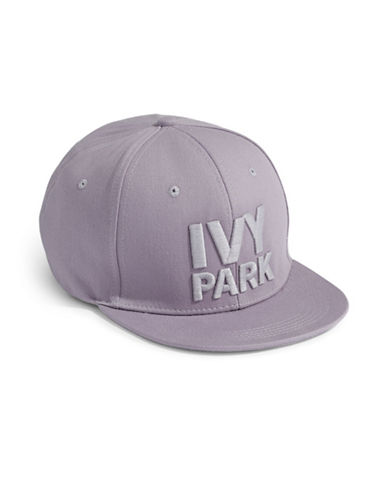 Ivy Park Logo Snapback Cap-CLOUD GREY-One Size