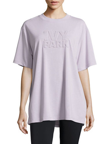 Ivy Park Embossed Logo T-Shirt-LILAC-X-Large