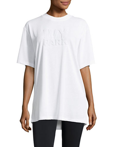 Ivy Park Embossed Logo T-Shirt-WHITE-X-Large