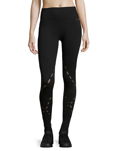 Ivy Park Seamless Crisscross Ankle Leggings-BLACK-XX-Small/X-Small