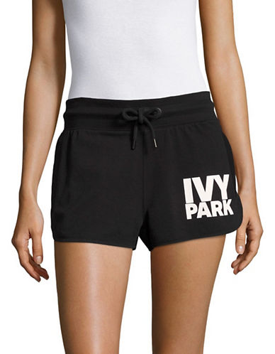 Ivy Park Logo Shorts-BLACK-Large
