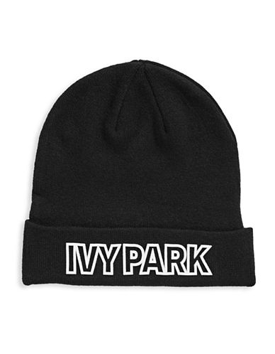 Ivy Park Logo Cuffed Tuque-BLACK-One Size