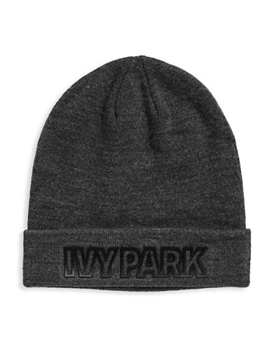 Ivy Park Logo Cuffed Tuque-GREY-One Size