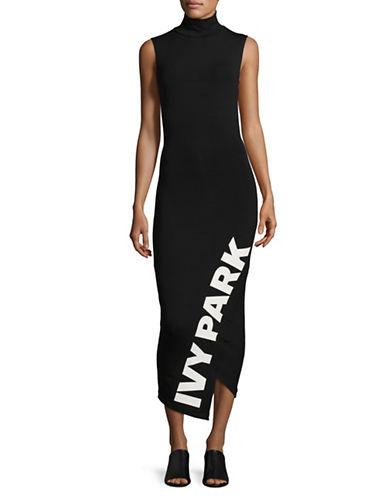 Ivy Park Sleeveless Logo Midi Dress-BLACK-Medium 89596127_BLACK_Medium