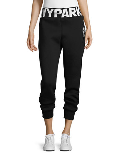 Ivy Park Logo Jogger Pants-BLACK-X-Large