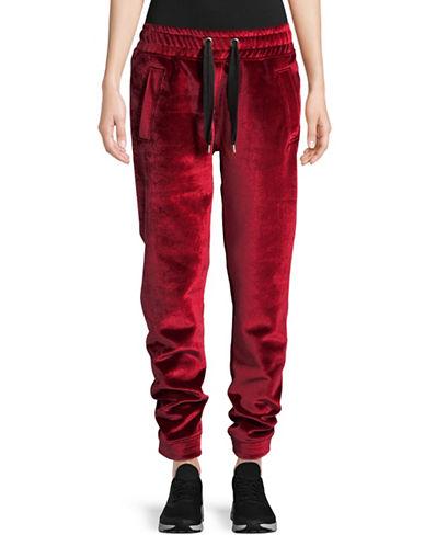 Ivy Park Bonded Velvet Jogger Pants-RED-Medium