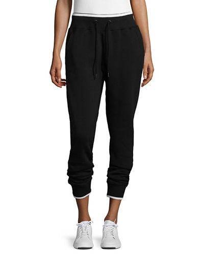Ivy Park Contrast Trimmed Jogger Pants-BLACK-Small