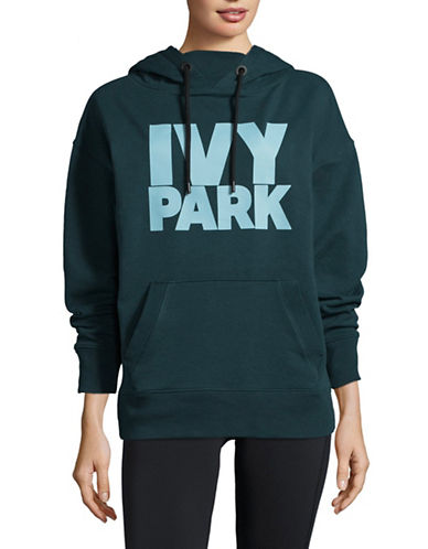 Ivy Park Graphic Logo Hoodie-GREEN-X-Small