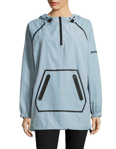 Ivy Park Perforated Hood Jacket-BLUE-X-Small