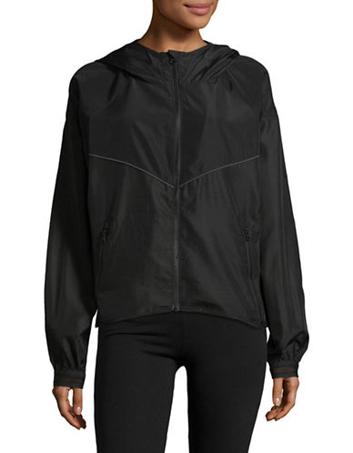 Ivy Park Crop Panel Jacket-BLACK-Medium