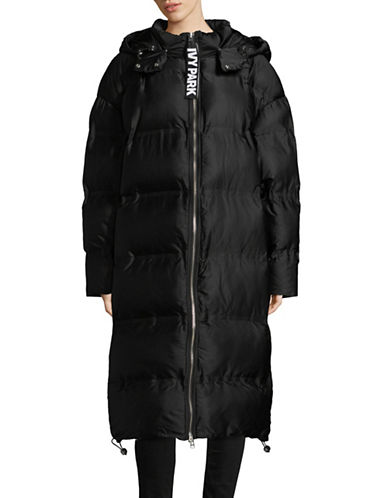 Ivy Park Long Puffer Jacket-BLACK-X-Large