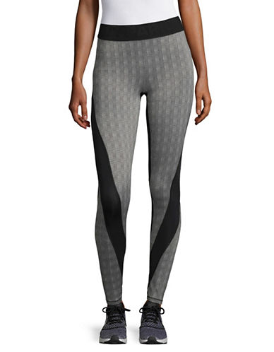 Ivy Park Premium Knitted Leggings-GREY-Medium