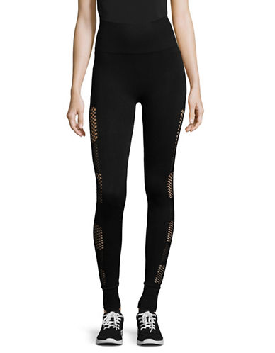 Ivy Park Open Circular Knit Leggings-BLACK-XX-Small/X-Small 89493123_BLACK_XX-Small/X-Small