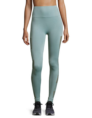 Ivy Park Open Circular Knit Leggings-BLUE-Small/Medium