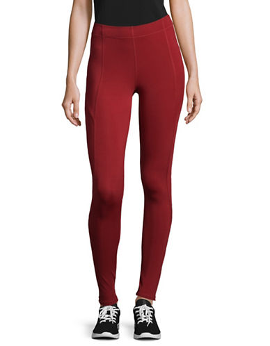 Ivy Park Program Mid-Rise Leggings-RED-Medium