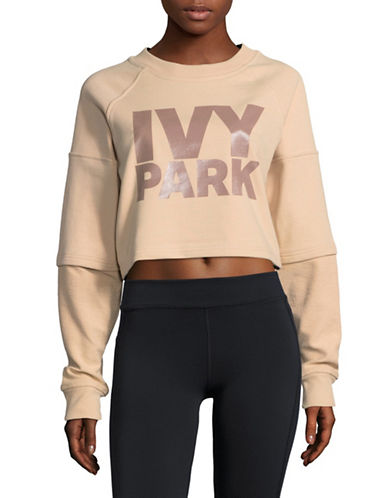 Ivy Park Cropped Logo Pullover-PINK-X-Large 89596172_PINK_X-Large