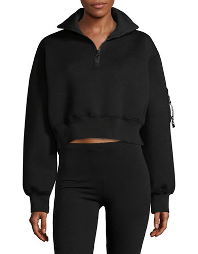 Ivy Park Cropped Sweater-BLACK-X-Large