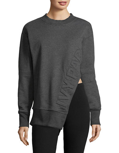 Ivy Park Cut-Out Detail Sweater-GREY-X-Large