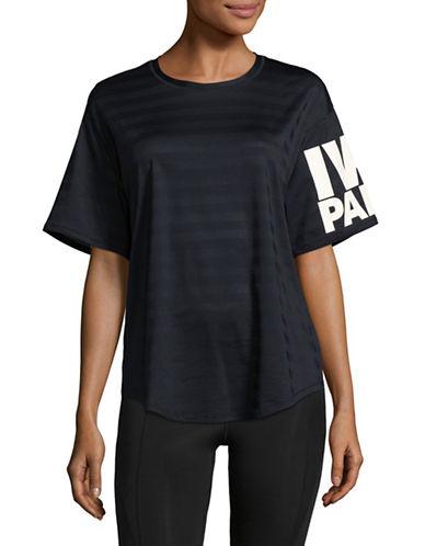 Ivy Park Mesh Logo Tee-BLACK-Medium