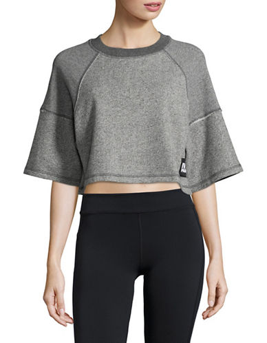 Ivy Park Marl Lounge Boxy Sweater-LIGHT GREY-X-Large