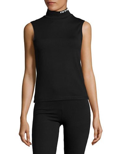 Ivy Park Logo Turtleneck Tank Top-BLACK-X-Small