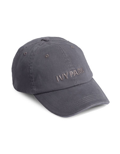 Ivy Park Washed Embroidered Logo Hat-GREY-One Size
