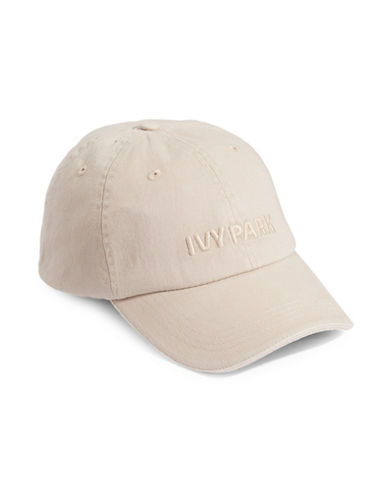 Ivy Park Washed Embroidered Logo Hat-BEIGE-One Size