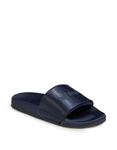 Ivy Park Tonal Logo Slides-NAVY-UK 4/US 6