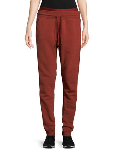 Ivy Park Washed Jogger Pants-RED-Large
