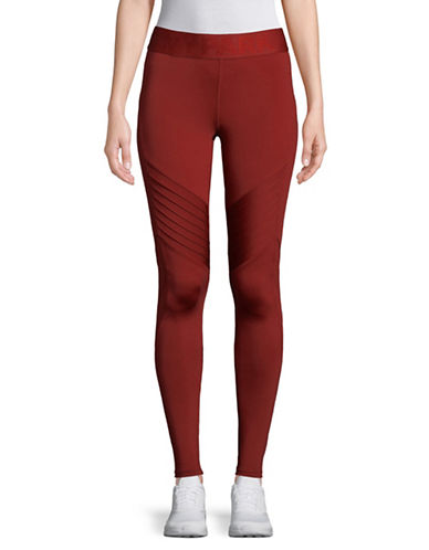 Ivy Park Pintuck Leggings-RED-Medium