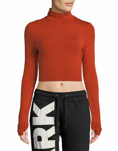 Ivy Park Backless Crop Top-GINGER-Small