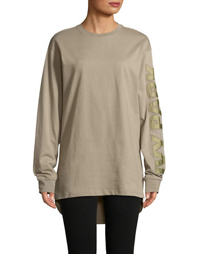 Ivy Park Boyfriend Long-Sleeve Tee-BEIGE-Medium
