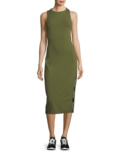 Ivy Park Banded Logo Dress-GREEN-X-Large 89796540_GREEN_X-Large