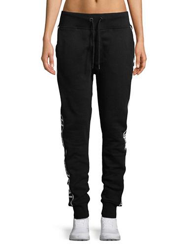 Ivy Park Logo Flat-Knit Jogger Pants-BLACK-X-Large 89796556_BLACK_X-Large