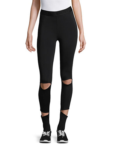 Ivy Park Cutaway Leggings-BLACK-Medium 89796583_BLACK_Medium
