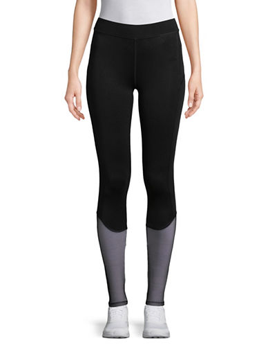 Ivy Park Midrise Mesh Overlay Leggings-BLACK-Medium