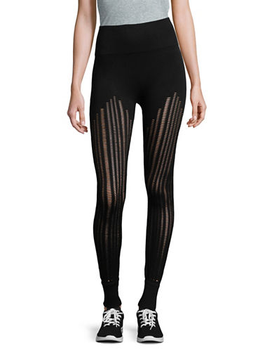Ivy Park High-Rise Cutaway Leggings-BLACK-Small/Medium 89796586_BLACK_Small/Medium
