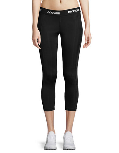 Ivy Park Low-Rise Three-Quarter Leggings-BLACK-Small 89796590_BLACK_Small