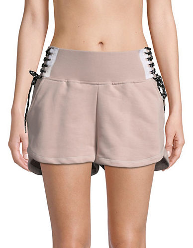 Ivy Park Lace-Up Shorts-SHADOW GREY-X-Small 89893380_SHADOW GREY_X-Small