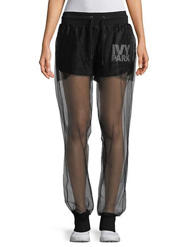 Ivy Park Festival Tulle Jogger Pants-BLACK-Large 90063301_BLACK_Large