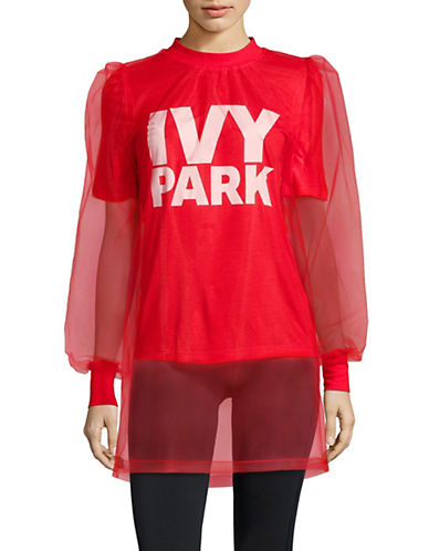 Ivy Park Festival Long-Sleeve Tulle Top-PINK-X-Small 90063338_PINK_X-Small