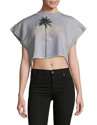 Ivy Park Festival Palm Cropped Top-GREY-Large 90063382_GREY_Large