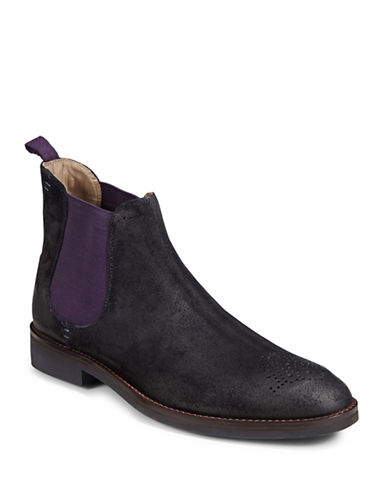 Sweeney London Burrows Suede Chelsea Boots-NAVY-UK 8/US 9