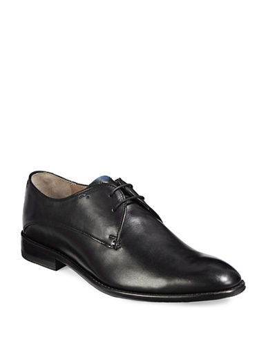 Sweeney London Knole Leather Derby Shoes-BLACK-UK 11/US 12