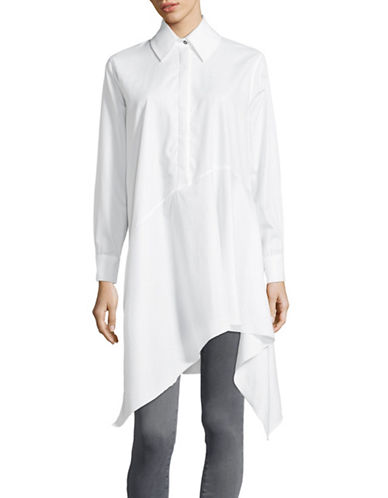 Marques Almeida Jersey Asymmetrical Collared Shirt-WHITE-X-Small