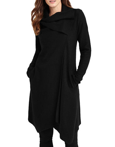 Phase Eight Bellona Waterfall Coat-BLACK-UK 10/US 6